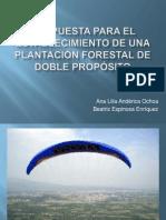 Propuesta para el establecimiento de una plantación forestal de doble propósito