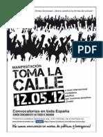 Asociación DRY - Panfleto para repartir 12M-15M