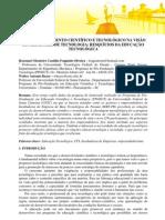 DESENVOLVIMENTO CIENTÍFICO E TECNOLÓGICO NA VISÃO DE GERADORES DE TECNOLOGIA- RESQUÍCIOS DA EDUCAÇÃO TECNOLÓGICA
