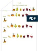 Circle the Fruit