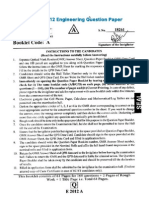 Eamcet 2012 Engg Paper