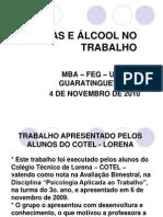 Drogas e Alcool No Trabalho - Mba - Feg - Unesp - 3