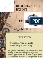 Export Registration Proceedure AKHIL