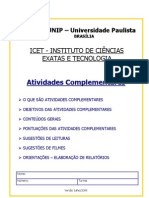 Manual de Atividades Complement Ares ICET - BSB 2010-2