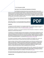 Informes Técnicos ANVISA Aspartame