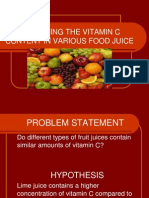 Determing the Vitamin c Content in Various Food