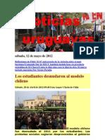 Noticias Uruguayas sábado 12 de mayo