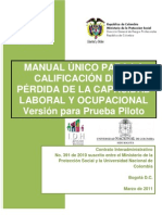 Manual Unico Para La Calificacion de Perdida de Capacidad Laboral