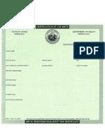 Hawaiian Birth Certificate Blank