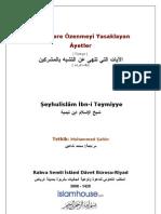 Ibn Teymiyye - Musriklere özenmeyi yasaklayan ayetler