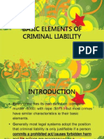 Basic Elements of Criminal Liability