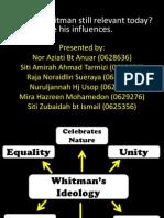 Walt Whitman's Influences-complete