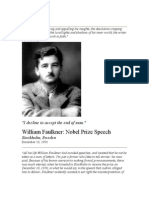 William Faulkner Nobel Prize Acceptance Speech