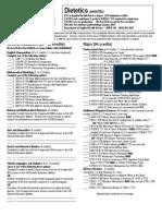 BS in AHS Dietetics 2011