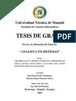 TESIS SISTEMA INFORMATICO DE LA ESCUELA 21 DE MAYO