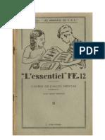 Mathématiques Classiques CEP 3 Cahier de Calcul Mental FE-12 Anscombre