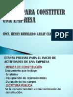 Empresas - Constitución y Regímenes