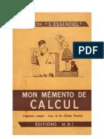 Mathématiques Classiques CEP 4 Memento Cours Complet du Certificat d'Etudes Anscombre