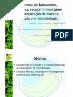 Limpeza, secagem, montagem e esterilização do material usado em microbiologia _ completo [Modo de Compatibilidade]