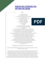 O FENÔMENO DO ATEÍSMO NO MUNDO DE HOJE