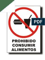 No comer en la sala