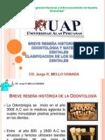 SEMANA 1- RESEÑA HISTORICA DE MATERIALES DENTALES, CLASIFICACION