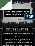 eclesiastes #25 IBE Callao