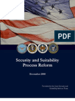 Joint Security and Suitability Process Reform Report December 2008