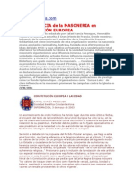 - La influencia de la masoneria en la Constituci¢n Europea - Laicidad vs Cristianismo