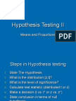 14-Hypothesis Testing of Means and Proportions