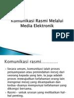 Komunikasi Rasmi Melalui Media Elektronik