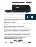 Marantz NR1501 Spec Sheet