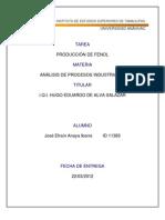 fabricacion de fenol