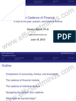 The Cadence of Finance