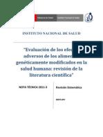 Revisión Sistemática Peru_Transgenicos
