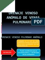 Drenaje venoso anómalo de venas pulmonares ppt