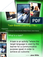 Task-Based Learning (TBL)