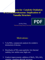 Effects of Vanadia Structure for DCB Oxidation