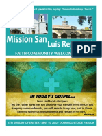 Mission San Luis Rey Parish Faith Community Bulletin for May 13, 2012