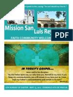 Mission San Luis Rey Parish Faith Community Bulletin for May 13, 2012