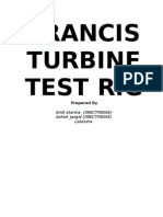 Francis Turbine Test Ring