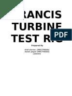 Francis Turbine Test Ring