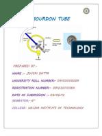 Bourdon Tube