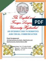 3rd Semester FINAL Assignment Semiotics SUMMARY