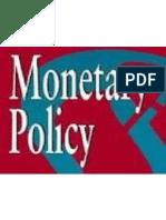 monetory policy1