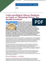 Codex Meeting in Ottawa