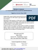 Programme Colloque 6 Juin 2012