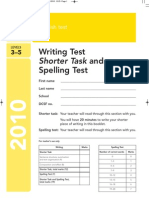 2010 English Shorter Writing and Spelling