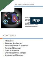 MY 2nd Sem. Presttn Biosensor & Enzymes as Immunosensors