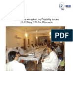 Report on Two Days Orientation Workshop on Disability Issues 11-12 May, 2012 in Charsada